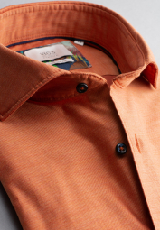 ETERNA LANGARM HEMD COMFORT FIT SOFT TAILORING TWILL ORANGE UNIFARBEN