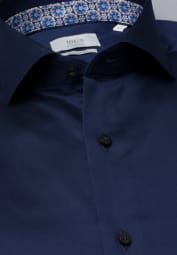 ETERNA LANGARM HEMD MODERN FIT GENTLE SHIRT TWILL MARINEBLAU UNIFARBEN