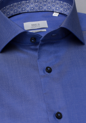 ETERNA LANGARM HEMD MODERN FIT GENTLE SHIRT TWILL JEANSBLAU UNIFARBEN