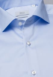 ETERNA LANGARM HEMD SLIM FIT GENTLE SHIRT TWILL HELLBLAU UNIFARBEN