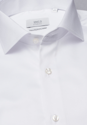 ETERNA LANGARM HEMD SLIM FIT GENTLE SHIRT TWILL WEISS UNIFARBEN