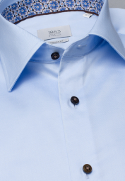 ETERNA LANGARM HEMD COMFORT FIT GENTLE SHIRT TWILL HELLBLAU UNIFARBEN