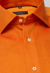 ETERNA LANGARM HEMD COMFORT FIT OXFORD ORANGE UNIFARBEN