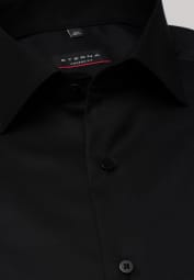 ETERNA LANGARM HEMD MODERN FIT COVER SHIRT TWILL SCHWARZ UNIFARBEN