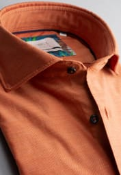 ETERNA LANGARM HEMD MODERN FIT SOFT TAILORING TWILL ORANGE UNIFARBEN